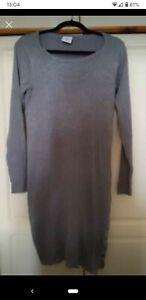 Mamalicious grey ribbed nursing breastfeeding dress, Size M