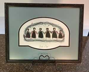 1993 P. Buckley Moss Friends So Dear Signed, Numbered, Framed Print 47/1000