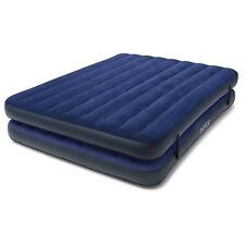 """Air Mattress Queen Inflatable Camping Bed 17 """" 2-in-1 Guest Airbed w / Hand Pump"""