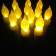 Mbest Yellow Flicker LED Flameless Taper Candles 12 Battery Operated Candles