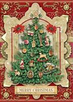 Punch Studio Luxe Tree Dimensional Holiday Boxed Cards Featuring 12 Embellished