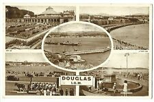 Douglas, Isle Of Man Multiview PPC, 1954 Local PMK By Tuck
