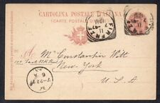 Italy Postal Card to New York 1897