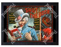 Historic Uncle Sam shut the door Advertising Postcard