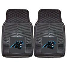 NFL Carolina Panthers Car Truck 2 Front Heavy Duty Rubber Vinyl Floor Mats