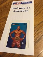 Evander Holyfield Boxing Amerivox Phone Card Sealed !