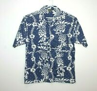 Billabong Blue/White Hawaiian Vintage Shirt Men's Size Small (Loose Fit)