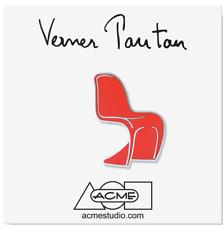 "ACME Studio ""Panton Chair Red"" Pin by Verner Panton NEW"
