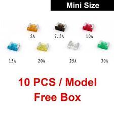 Car Auto Mini Size Blade Fuse Set 70pcs 5A 7.5A 10A 15A 20A 25A 30A ATM Circuit