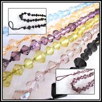 2 Gem Curtain Beaded Tie Backs - 65cm Embrace - Rope bead designer tiebacks ties