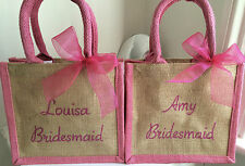 Personalised Bridesmaid Tote Bag. Will you be my, Maid of Honour, Flower Girl