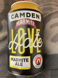 Marmite Ale Empty Beer Can Camden brewery Love Hate