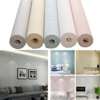 10M Luxury Textured Modern Non-Woven Stripe Wallpaper Roll Background Room Decal