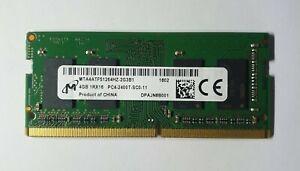 Micron 4GB 1x4GB 1Rx16 PC4 2400T MTA4ATF51264HZ-2G3B1 DDR4 260Pin Laptop