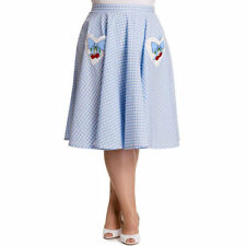 Hell Bunny Knee Length Checked Casual Skirts for Women