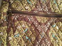 Vera Bradley shoulder bag cross-body tote purse. Medium sized. Green floral pre-