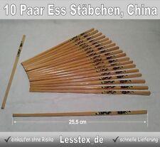 10 Paar Ess Stäbchen Bambus Holz China Chopsticks Stäbchen Holzstäbchen Lackiert