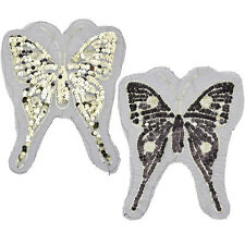 1 pc Butterfly Reversible Sequins Change Color Patches Sew On Badge DIY Applique