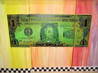 """Original Pop Graffiti Painting Pee Wee Herman """"In Pee Wee We Trust"""" 3 Panel Art"""