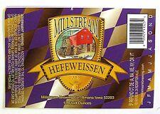 Millstream Brewing Co MILLSTREAM HEFEWEISSEN ALE beer label IA 12oz