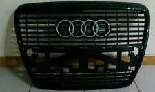 AUDI A6 S6 RS6 FRONT GRILL 05-11☀QUATTRO A6☀BLACK GRILL & CHROME LOGO☀OEM☀PARTS☀
