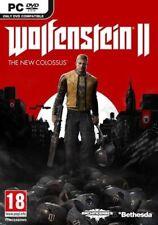 WOLFENSTEIN II 2 THE NEW COLOSSUS PC DVD NEUVO CASTELLANO PAL ESPAÑOL SPANISH