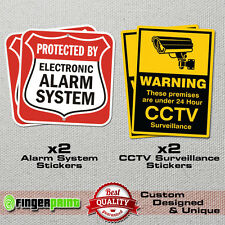 SECURITY STICKER SET alarm cctv video burglar surveillance warning sign home