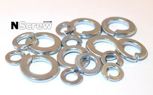 M6 M8 M10 M12 SPRING WASHERS ZINC PLATED DIN 127