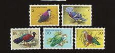 PAPUA NEW GUINEA - scott 465-469  VFMNH - BIRDS  - 1977