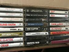 24 Cassette Tapes -  Eric Clapton Foghat Queen 70s 80s 90s With Case
