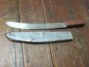 VTG SHARP SOLID MACHETE JUNGLE SUGAR CANE CORN WEEDS HOMEMADE HANDMADE OLD NICE