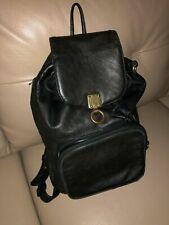 Vintage DKNY leather black backpack
