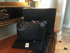 Chanel Grand Shopper Tote, Caviar Leather w/ Silver Hardware Used 1 Time!
