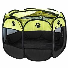 FABRIC SOFT PET PLAYPEN PUPPY DOG CAT RABBIT PIG GUINEA PLAY PEN RUN CAGE LARGE