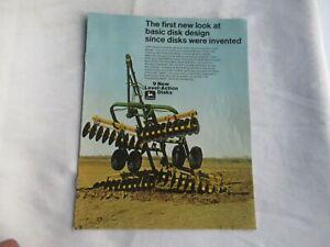 1973 John Deere 100 110 210 230 330 340 360 level-action disks brochure