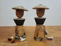 Vintage Kokeshi Japanese Wooden Doll Lot of 2