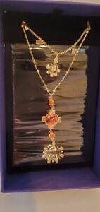 Swarovski 5451303 Lucky Goddess Double Necklace Gold Tone NIB
