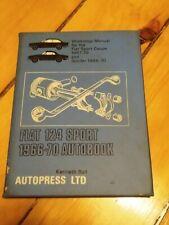 Vintage Fiat 124 Sport Autobook Owner's Work Shop Manual 1966-70 Spyder Coupe