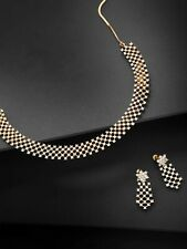 Gold-Plated Stone-Studded Handcrafted Jewelry Set/Necklace Set
