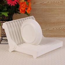 Pliable plat plaque séchage rack organisateur egoutoir de rangement en plastique titulaire cuisine
