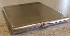 Hallmarked 1936 Cigarette Case 192g Gilt W H Manton Silver Antique Rose Gold