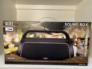 Altec Lansing Sound Box Bluetooth Party Speaker W/Lights Deep Bass Loud Portable