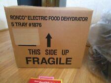 Ronco 5 Tray Electric Food Dehydrator #1876 Nib-Opened Box
