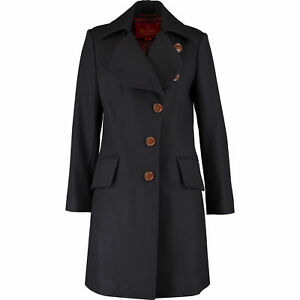 VIVIENNE WESTWOOD Red Label Classic Melton Love Coat - Navy - UK 8, UK 12 - £855
