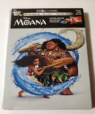 Disney MOANA - 4K Ultra HD, Blu-Ray + Digital Code Limited Edition NEW Steelbook
