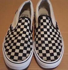 Vans Checkerboard slip on shoes black white cream Mens 9 Womens 10.5