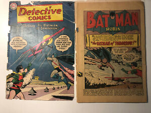 """Detective Comics#216""""The Batman from Tomorrow!'-lower Grade DC -detached covers."""