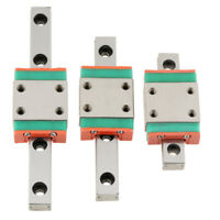 1pc LWL7B Miniature Linear Rail Guide 7mm Width + 1pc Slide Block For DIY CNC SG