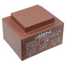 0-9V 0-9V 10VA 230V Trasformatore incapsulato PCB
