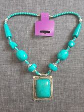 costume jewellery, ethnic, indian, turquoise green, necklace with pendant